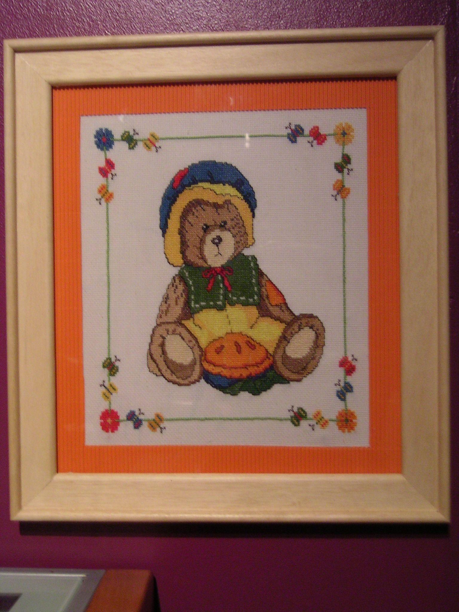 Abril cross stich teddy bear