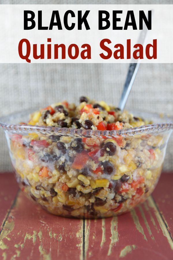 Black Bean Quinoa Salad #dishesfordinner