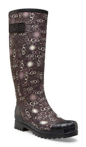 82f6d7f08c7f3 UGG Australia Women s Multi Logo Tall Rubber Boots