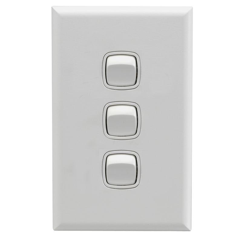 3 Switch Light Plate Hpm Excel White 3 Gang Light Switch In Matt Silver X1 Entrance .