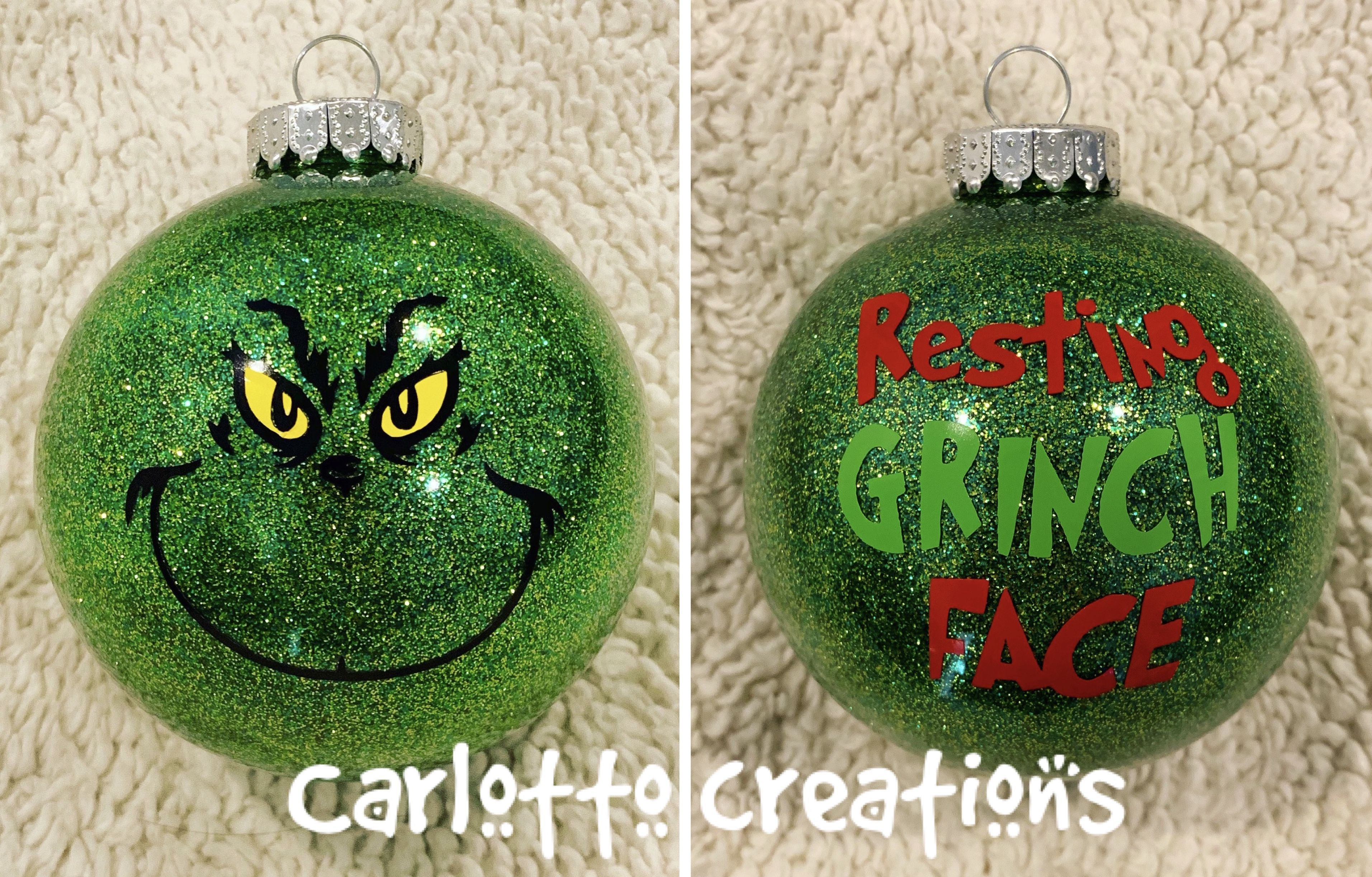 Grinch Ornament Grinch Ornaments Christmas Bulbs Ornaments