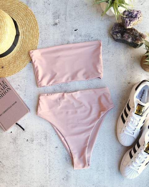 22bfb02d52b40 reverse - high waisted bandeau bikini set - more colors | diva - holmik | Bandeau  bikini set, Swimsuits és Bandeau bikini