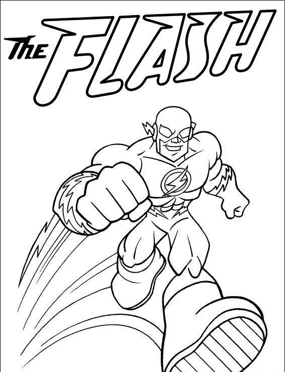 Flash Coloring Pages Comic Book Coloring Pages Pinterest