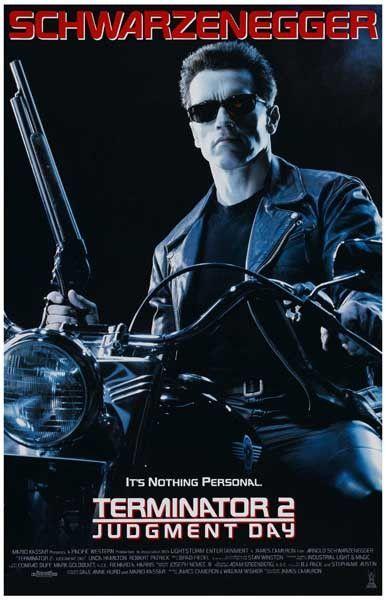 Terminator 2 Judgment Day Schwarzenegger Movie Poster 11x17 Film Bon Film Film Movie