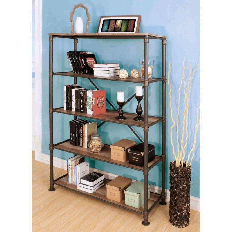 Furniture Of America Akayla Industrial Open Back Book Shelf Idf