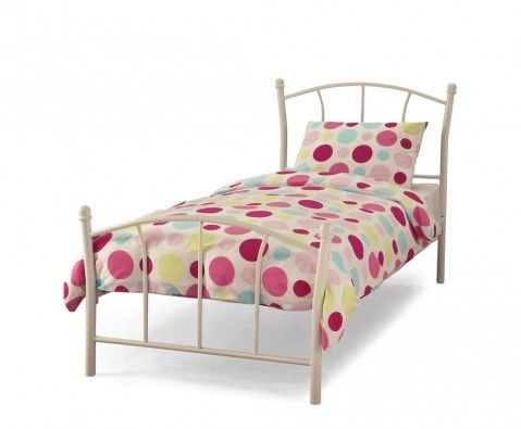 Penelope White Metal Bed Frame White Metal Bed White Single Bed