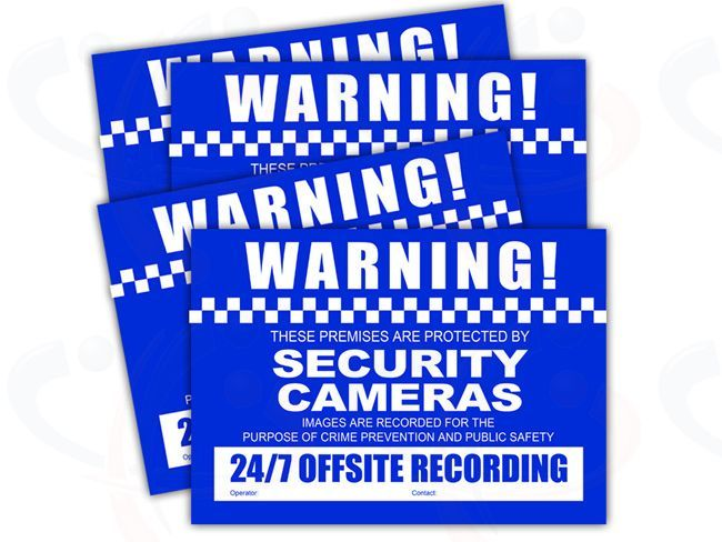 Watchguard Cctv Warning Stickers Wgvsdsc The Watchguard Cctv
