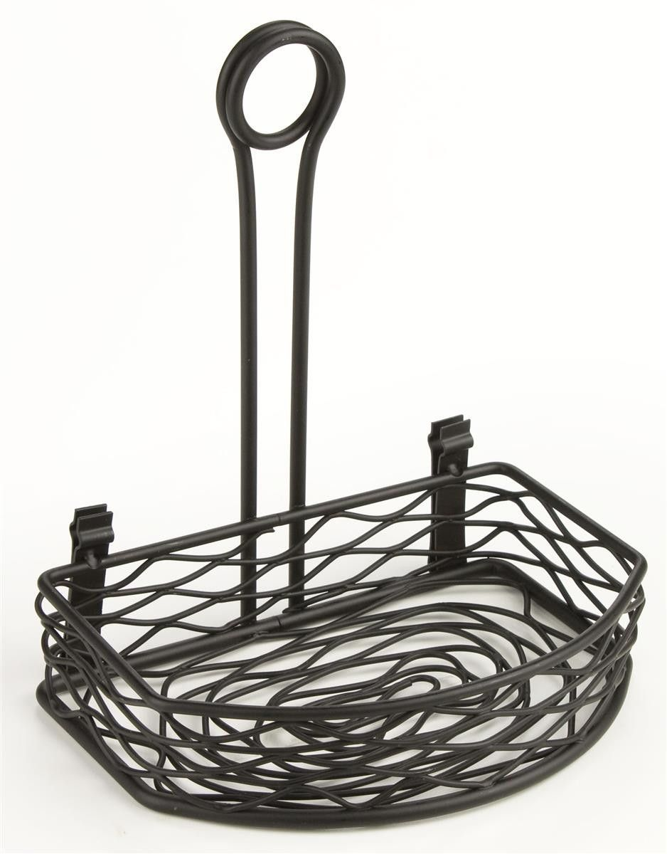 Wire Condiment Caddy w/ Sign Clip - Black 19685 | Condiment caddy ...