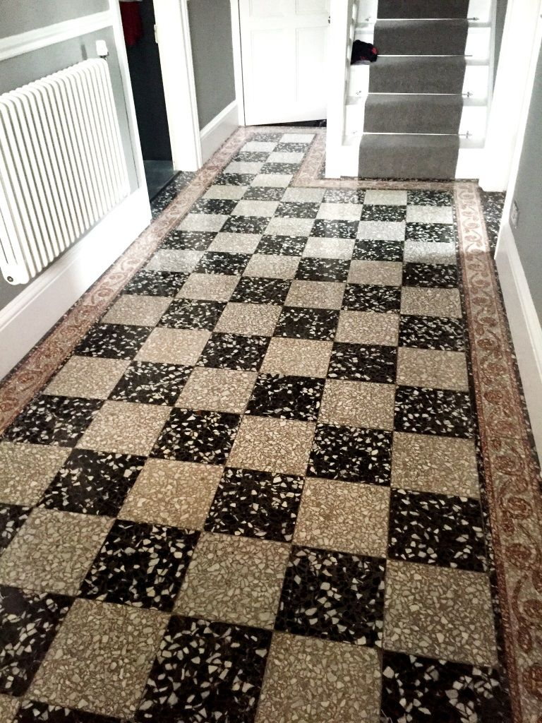 Black and White Terrazzo Tiles After Cleaning Windermere | flooring ...