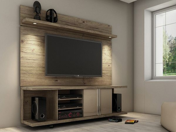Manhattan Comfort Carnegie TV Stand and Park 1.8 Panel The