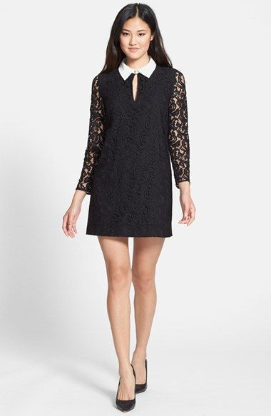 CeCe by Cynthia Steffe 'Rumer' Lace Shift Dress available at #Nordstrom