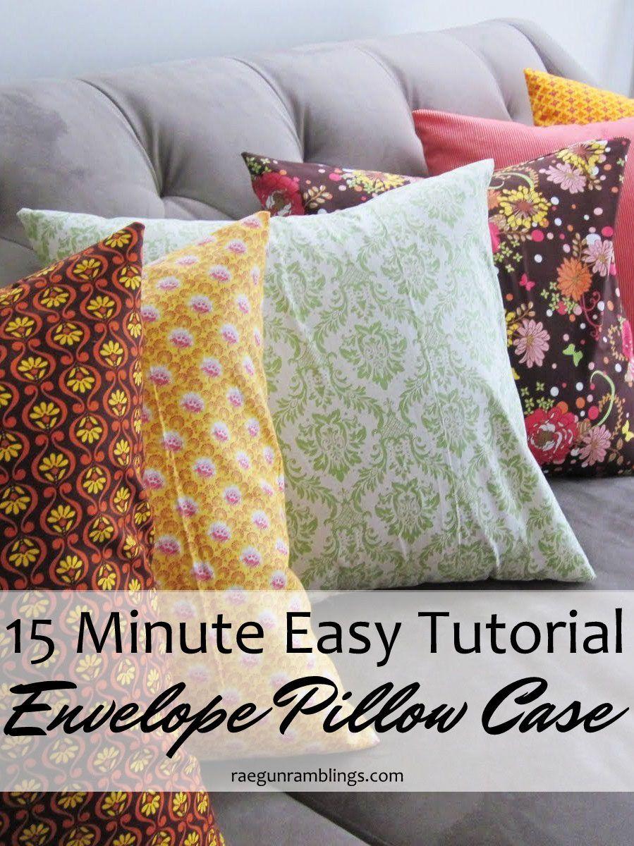 Tutorial quick envelope pillow case diy pillow cases pillow cases