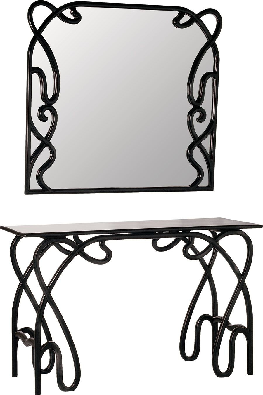 Console Table Poison Ivy This Art Nouveau Inspired Mirror And Its Matching Make