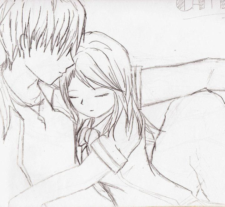 Anime Kiss Sketch Buscar Con Google Anime Sketch Cute Couple Drawings Sketch Drawing Images