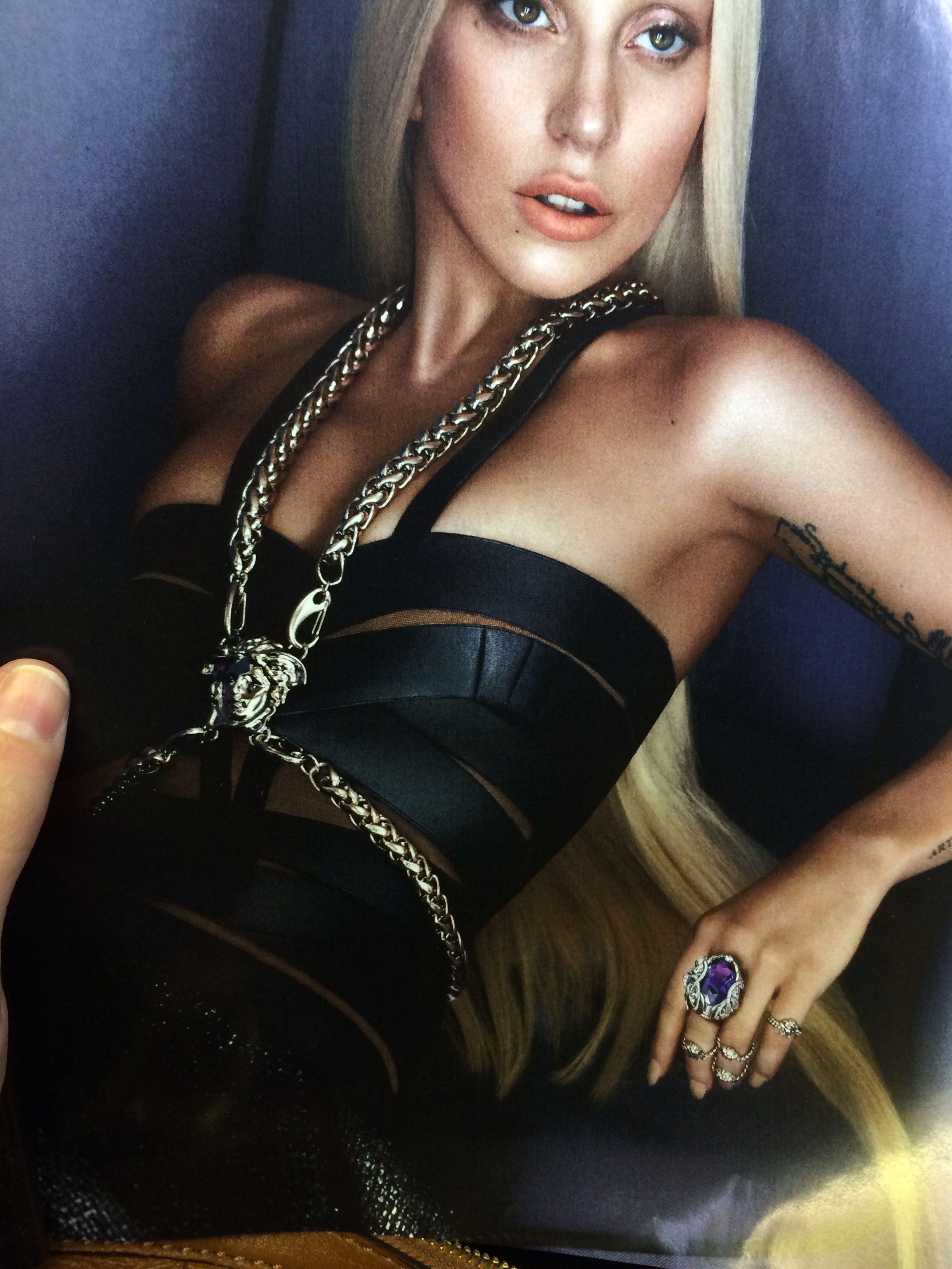 Versace. Lady Gaga.