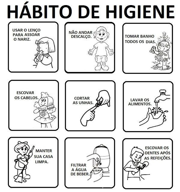 Habitos De Higiene Atividades Parte 1 Com Imagens Higiene