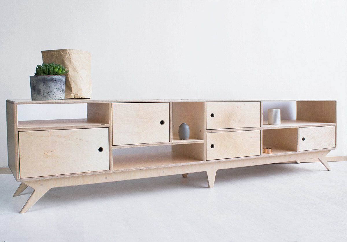 Drupal.long plywood tv cabinet handmade tv console & bookcase