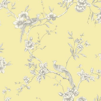 Opera chinoise wallpaper yellow at homebase be for Wallpaper homebase blue