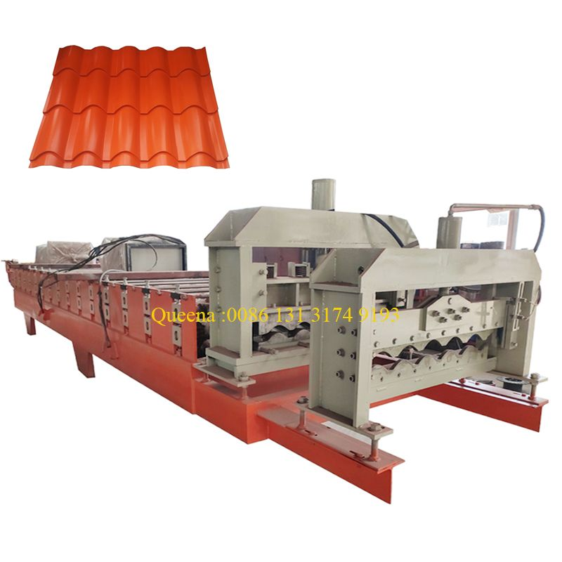 Metal Corrugated Glazed Tile Roofing Panel Roll Forming Machine In 2020 Roof Panels Wall Paneling Paneling