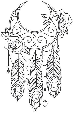 Wanderlust By The Moonlight Urban Threads Unique And Awesome Embroidery Designs Hand Embroidery Designs Coloring Pages Coloring Books