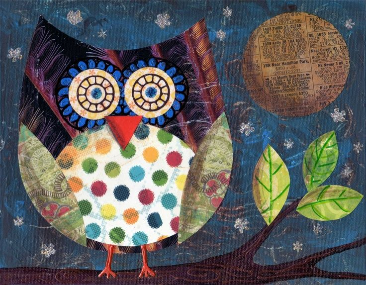 Kirsten Owl Print. Mrs. Picasso | art projects for kids | Pinterest
