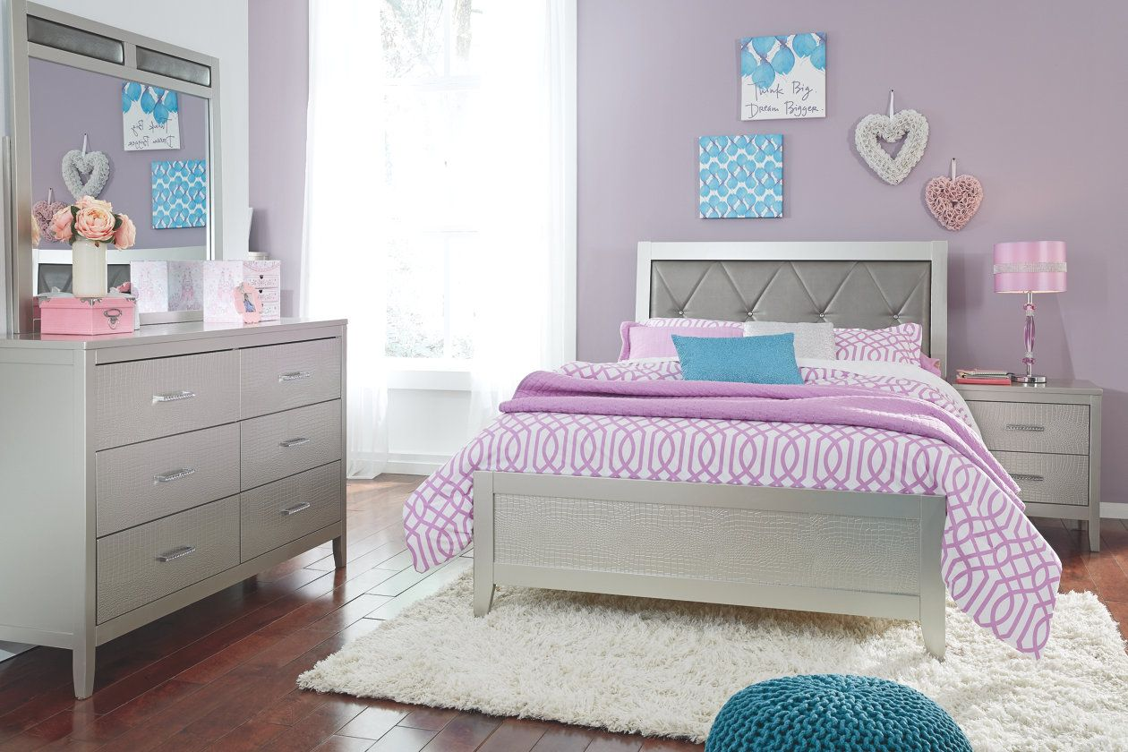 Olivet Queen Panel Bed Queen upholstered headboard
