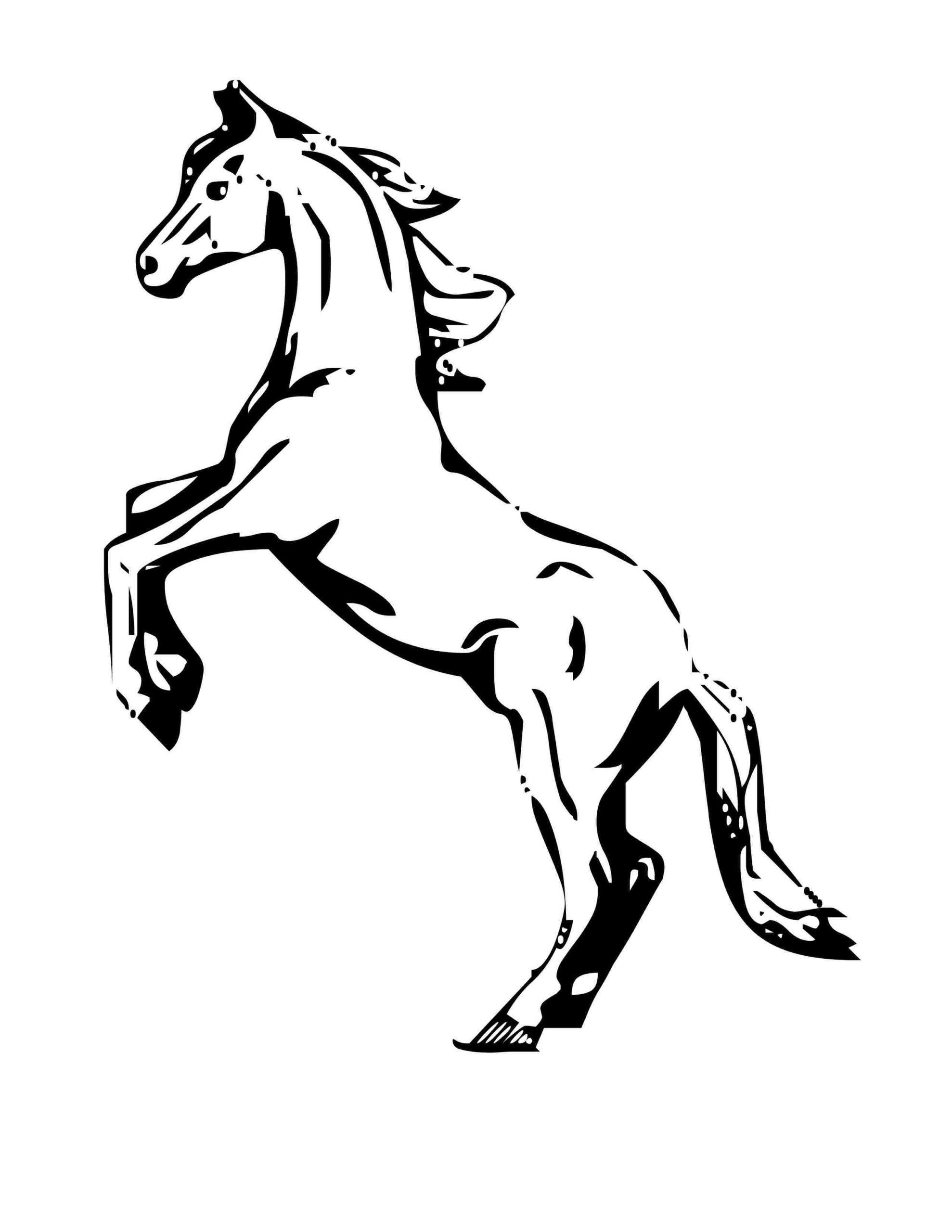 Baby Horse Coloring Page Youngandtae Com Caballos Salvajes Caballo Para Colorear Pinturas [ 2560 x 1978 Pixel ]