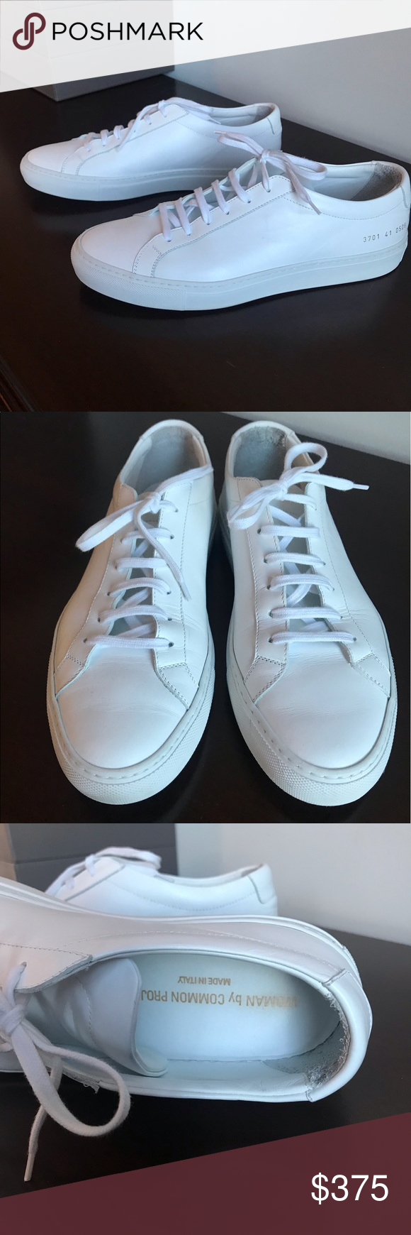 Great condition. White leather Achilles