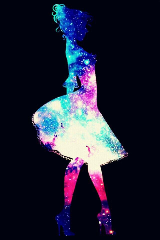 Watercolor Silhouette With Black Acrylic Mermaid Wallpapers Dance Wallpaper Galaxy Art