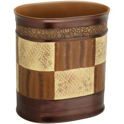 sweet home collection zambia bath waste basket | bathroom