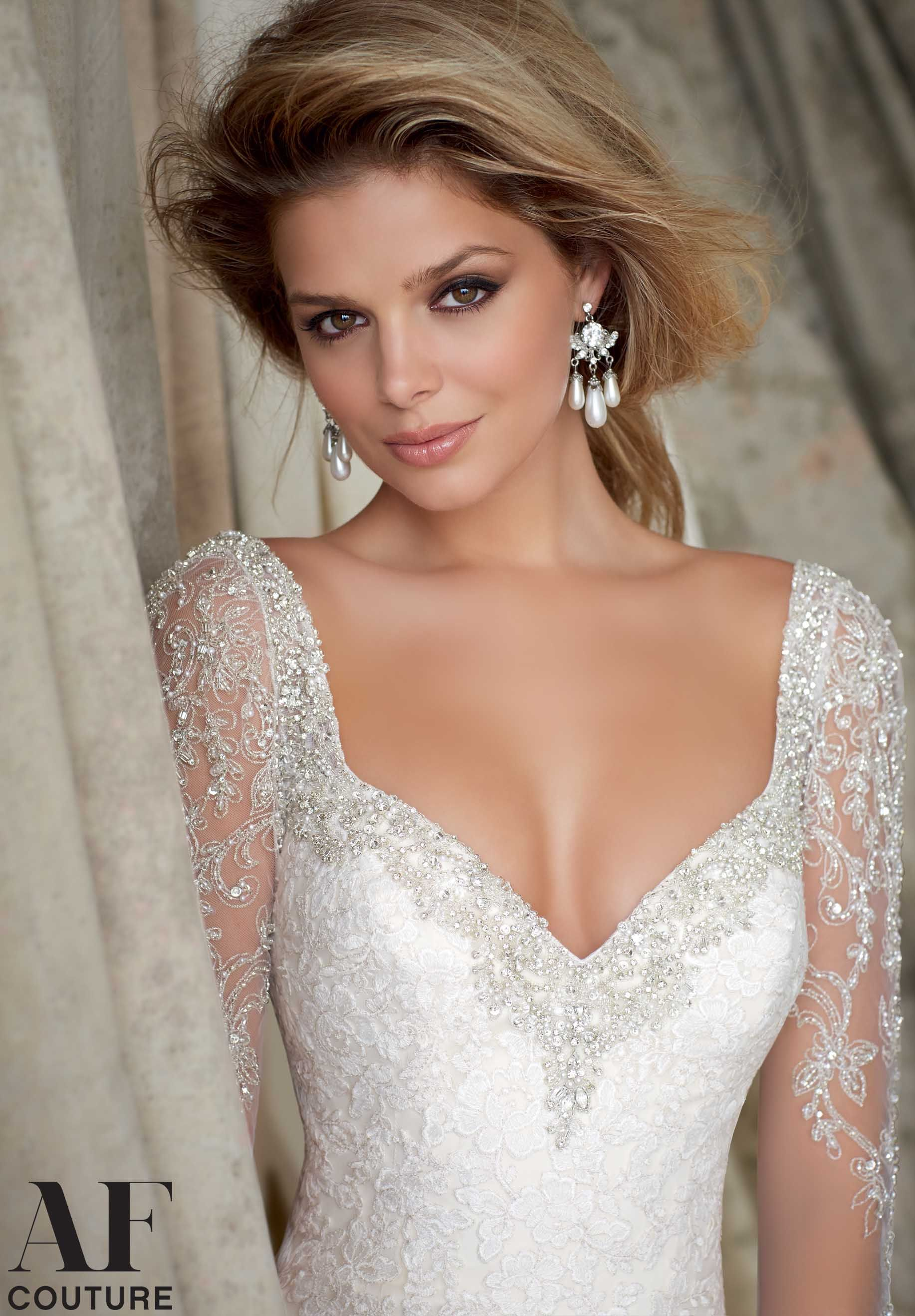 Mori Lee - 1321 Wedding Gowns / Dresses Embroidered Lace Appliques ...