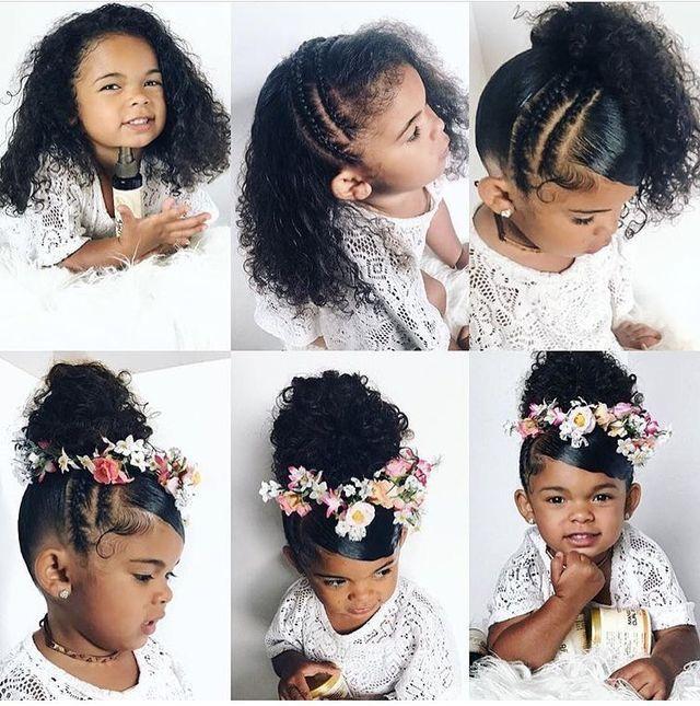 Wedding Hair Styles For Black Little Girls