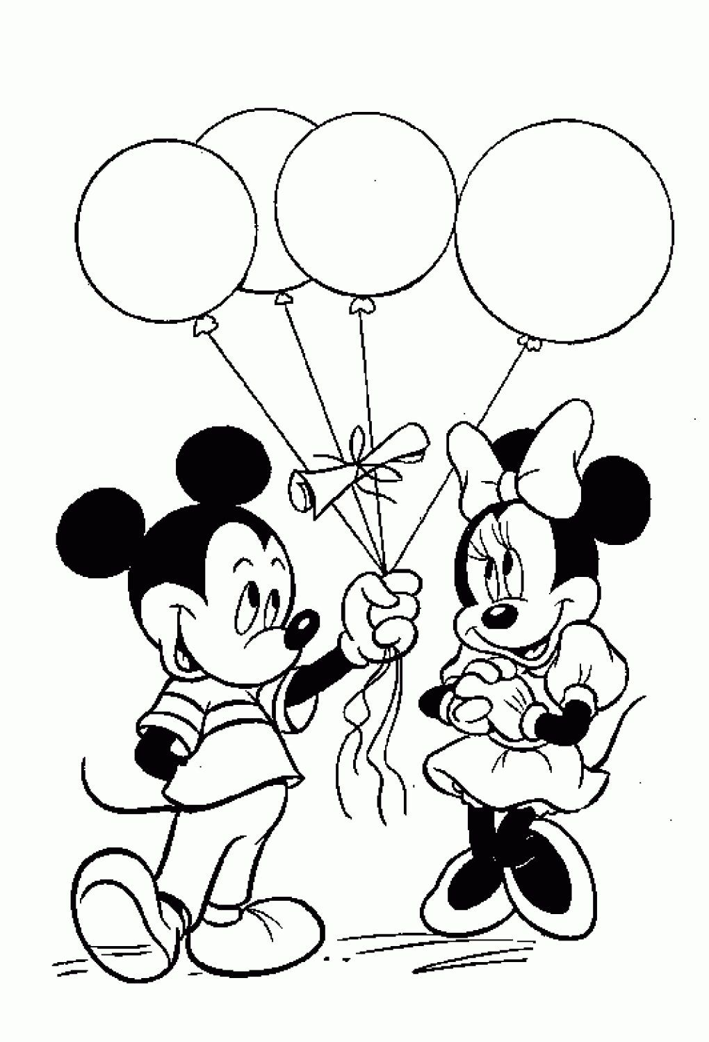 mickey and minnie mouse birthday coloring pages | praying hands ...