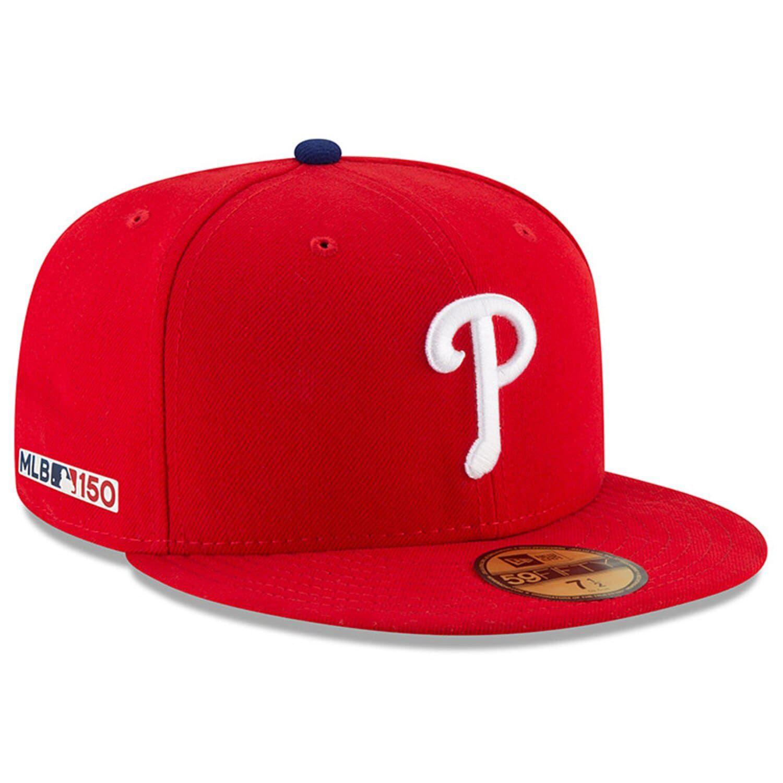 pick up online for sale innovative design Men's New Era Red Philadelphia Phillies MLB 150th Anniversary ...