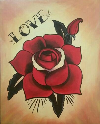 Denne Tattoo Old School Rose Tattoos Traditional Tattoo Art