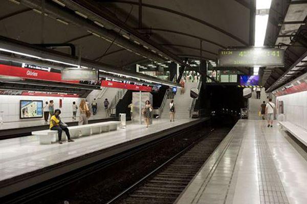 Una estación de metro de Barcelona. EP