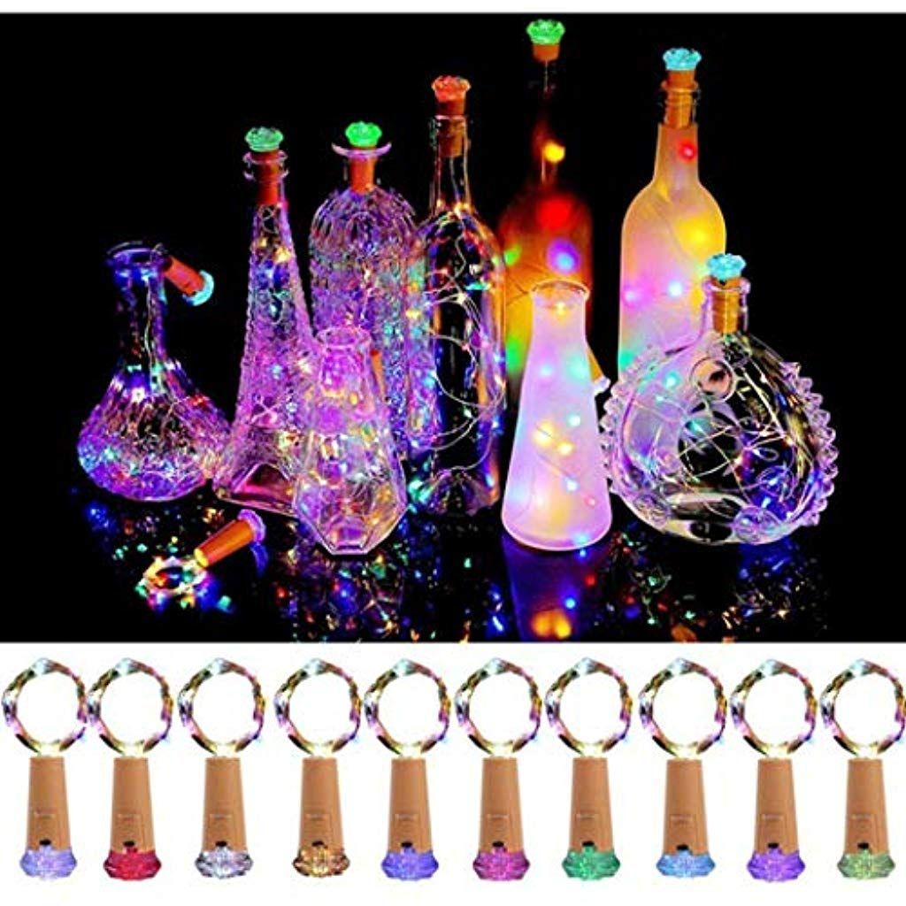 Aimado 4 6 Pcs Bunte Led Korken Weinflaschen Kupferdraht Licht Sternenlicht Fur Flasche Diy Beleuchtung Mit Bildern Flaschenleuchten Beleuchtete Weinflasche Sternenlicht
