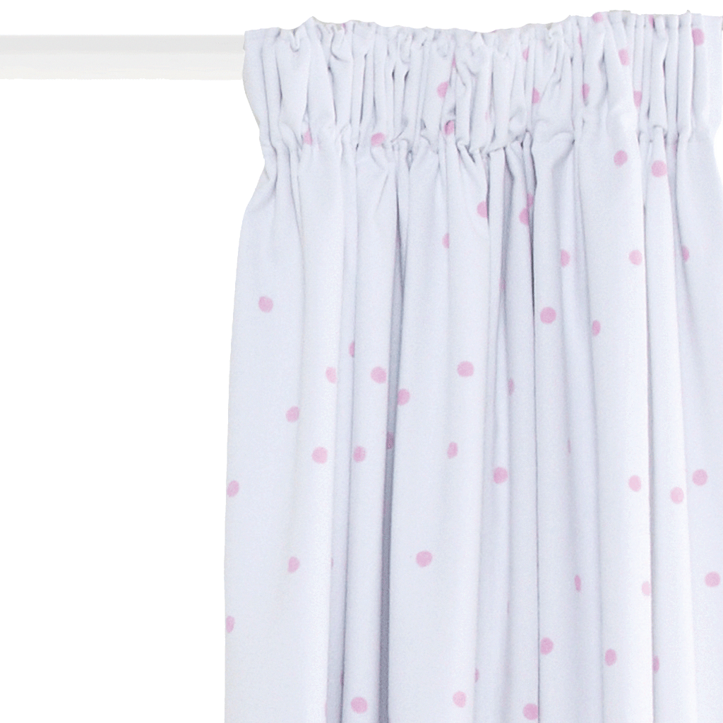 These Pretty Pink Spot Curtains Have Blackout Linings That