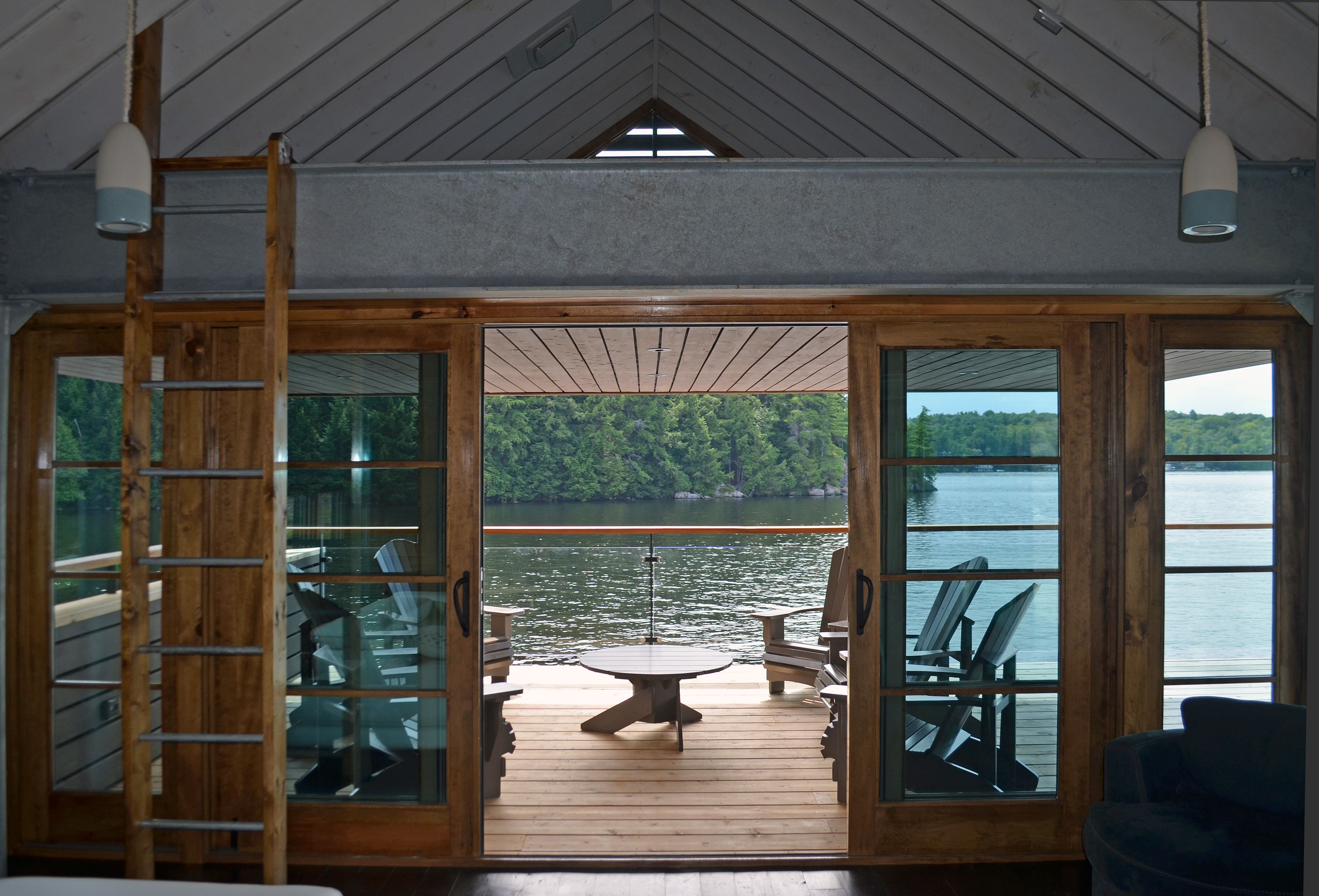 Muskoka Boat House Inside Looking Out Big Sur My Dream Home Architecture