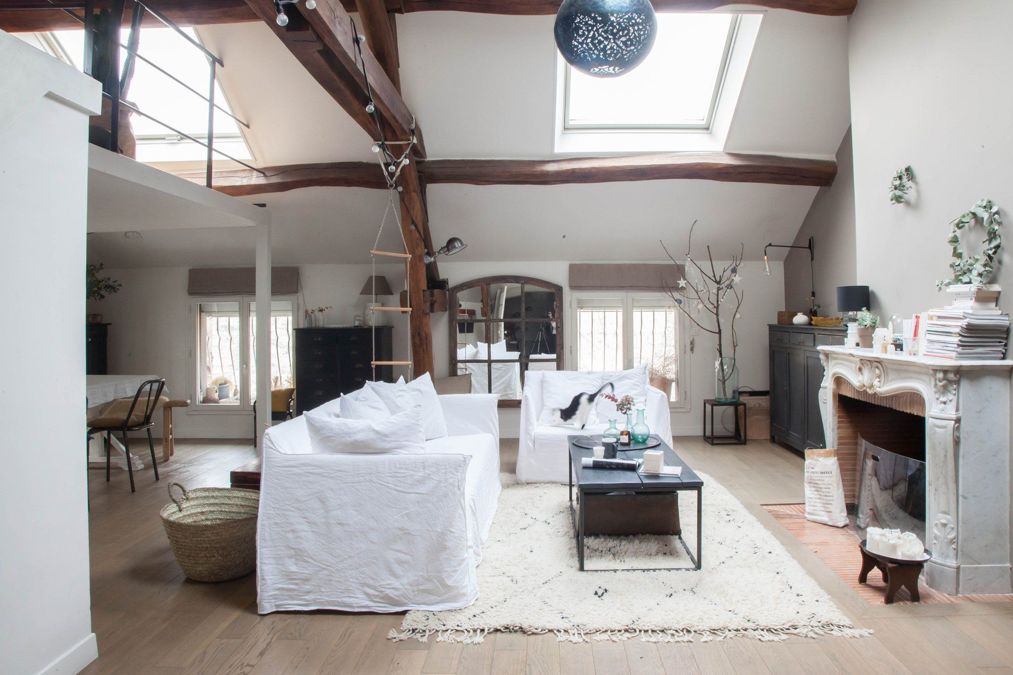 Living room decor - Harmony in a Rustic French Home