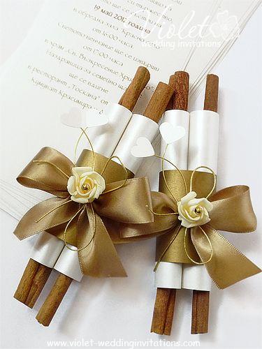 Grace Wedding Scroll Violet Handmade Invitations