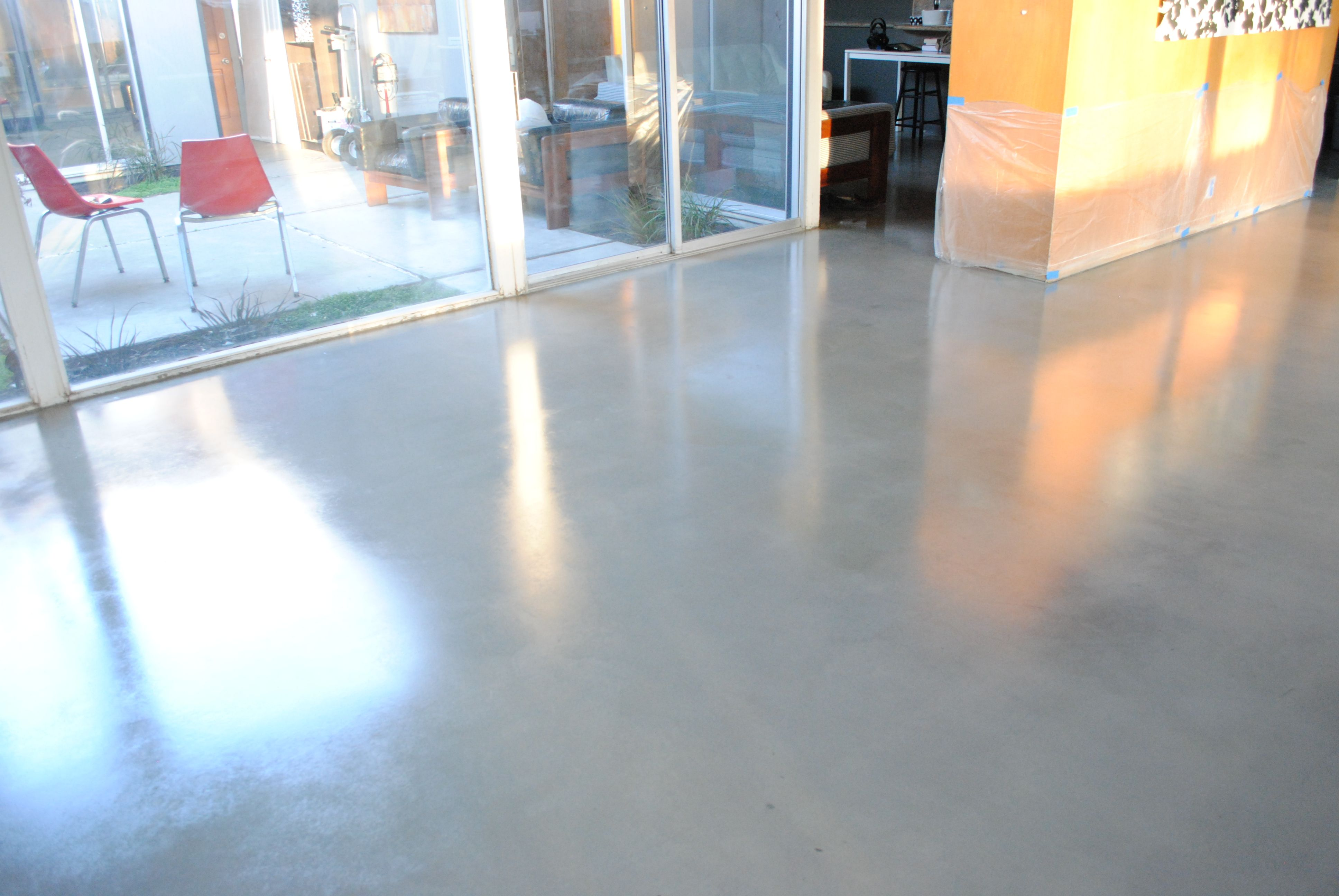 Modern Gray Painted Concrete Floor Designs Patio Ideas For Modern