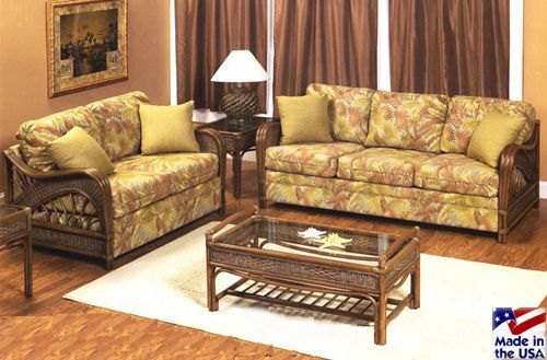 Captiva 902 Antique Rattan Sofa And Sleeper By Stanley Chair