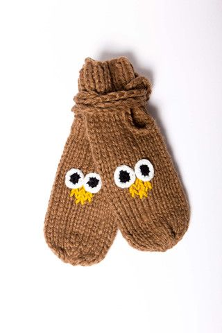 Oh Hoot Mittens  #owl