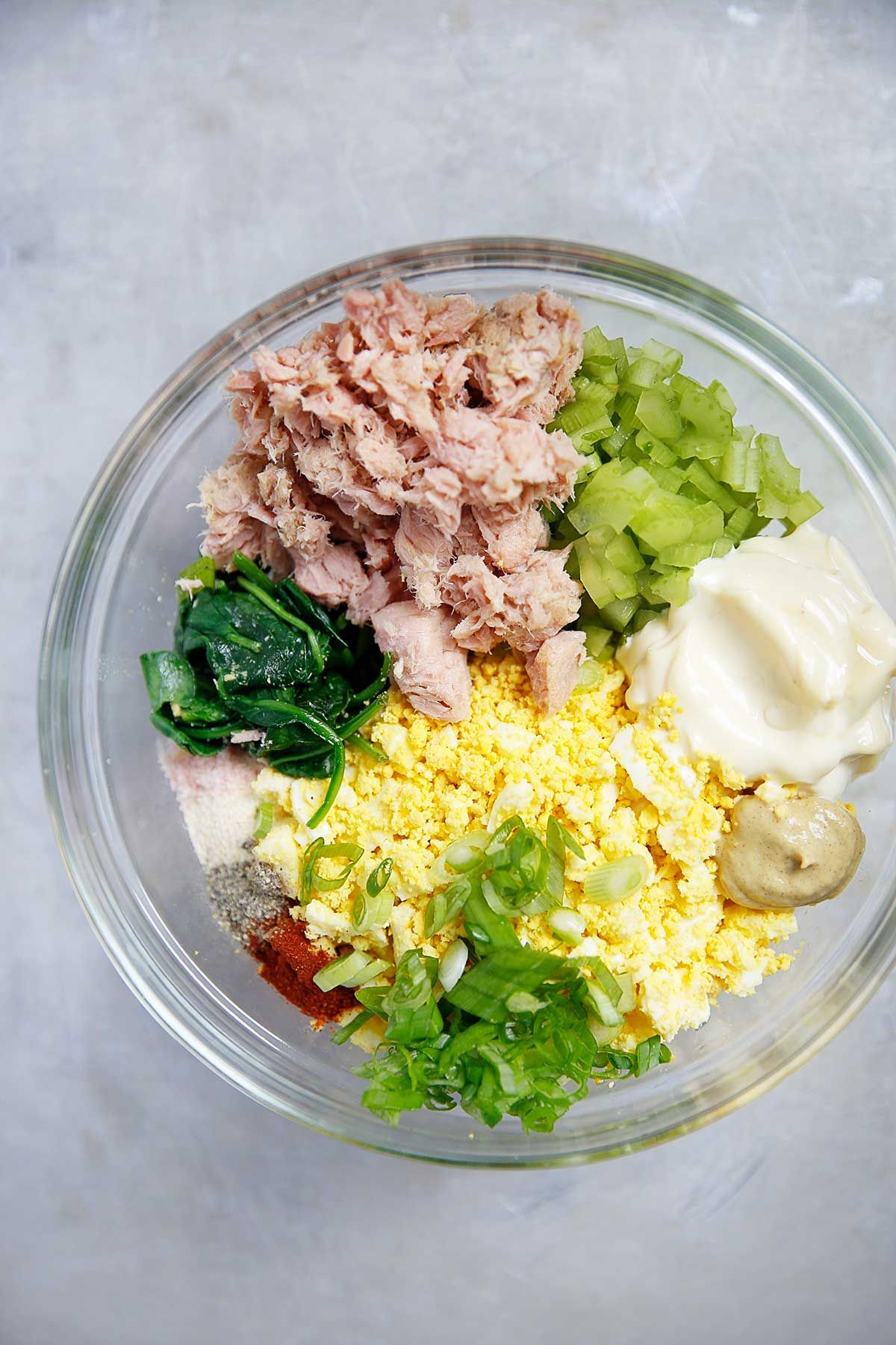 Loaded Egg Salad With Tuna Spring Recipes Seafood Delicious Yum Easyrecipe Good Healthy Recipes Healthy Diet Recipes Healthy Food Facts
