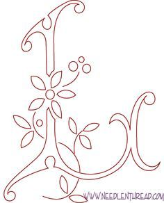 embroidery letter designs - Google Search | doodles | Pinterest ...