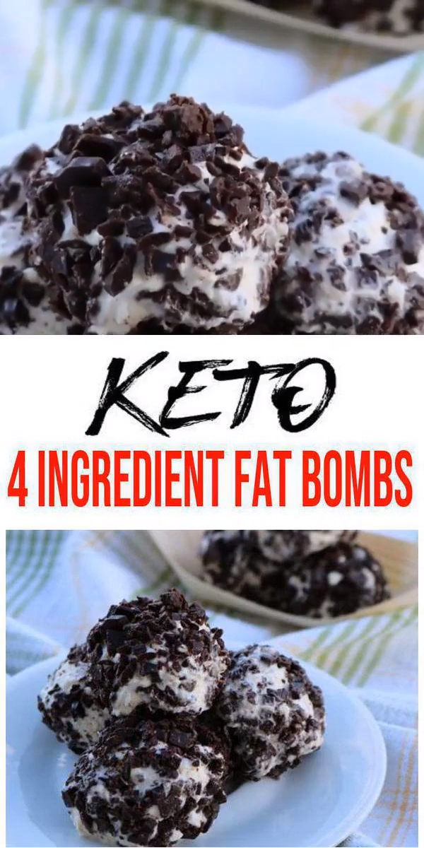 4 Ingredient Keto Fat Bombs – BEST Chocolate Chip Cheesecake Fat Bombs – Easy NO Sugar Low Carb Recipe