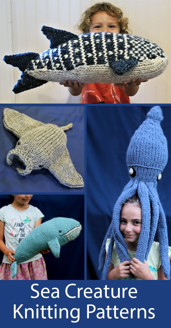Knitting Pattern for Biggest Animals in the Ocean Toys