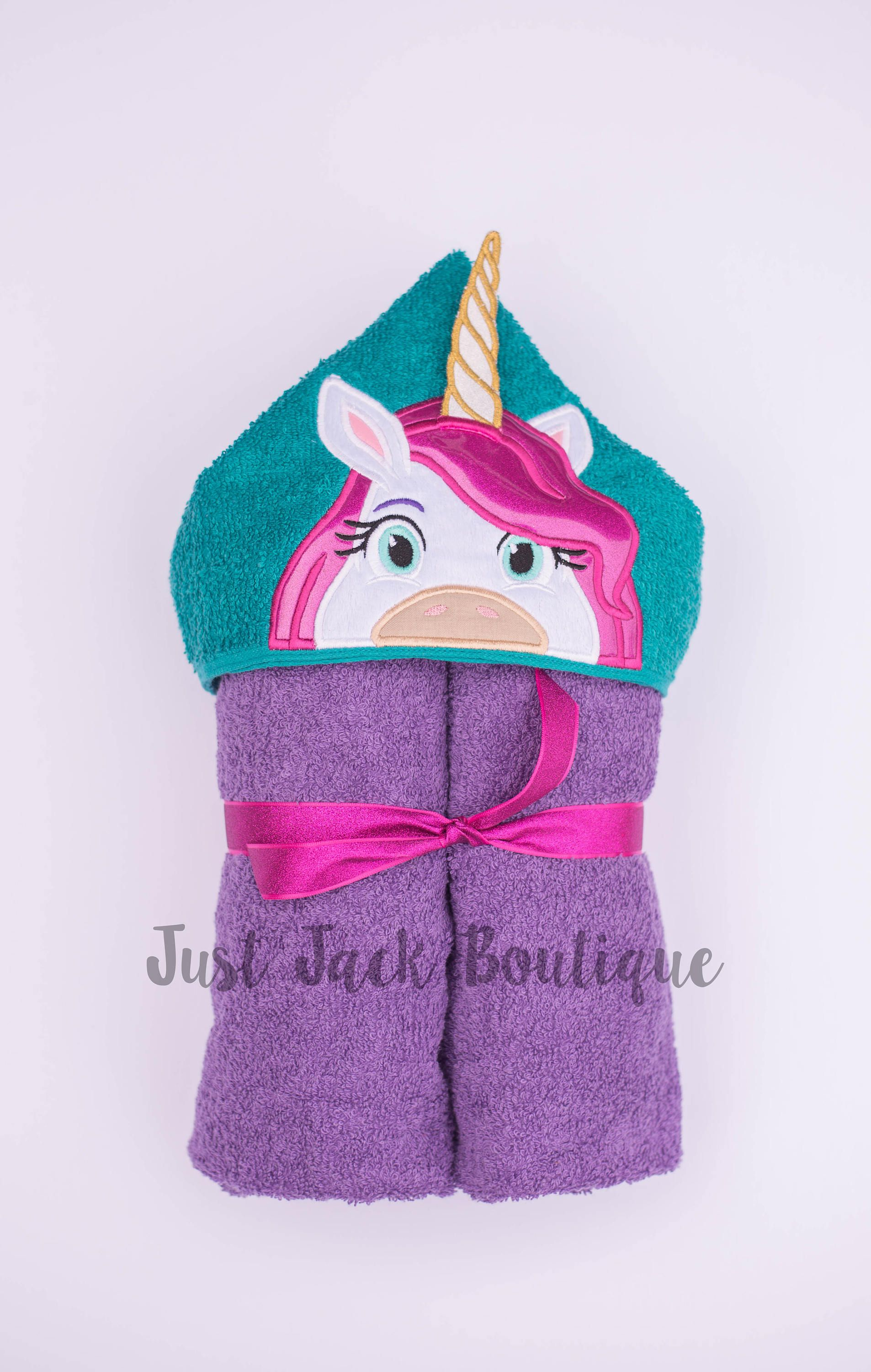 Kids Unicorn Hooded Towel Hooded Bath Towel For Baby Toddler