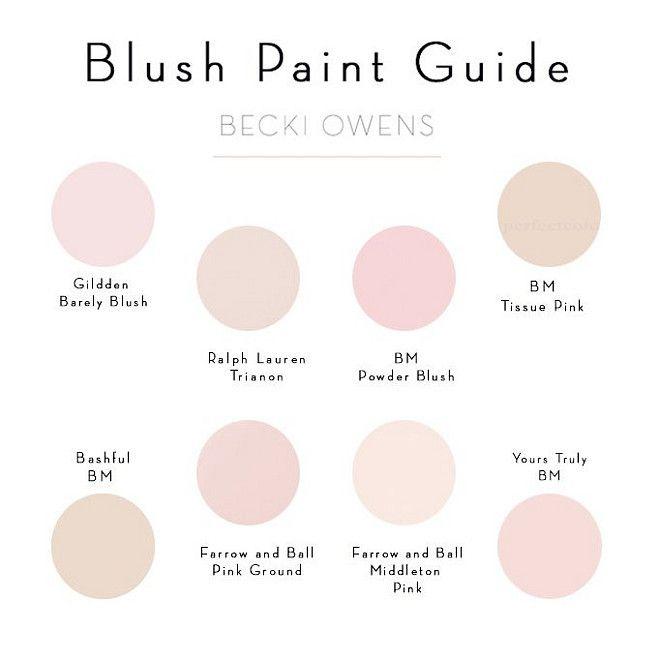 Blush Paint Color Ideas Pale Pink Paint Color Glidden Barely